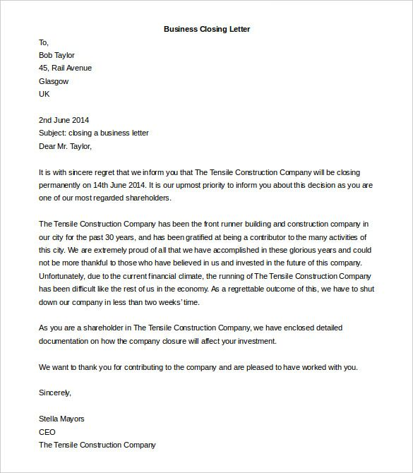 business letter template free word pdf documents format download