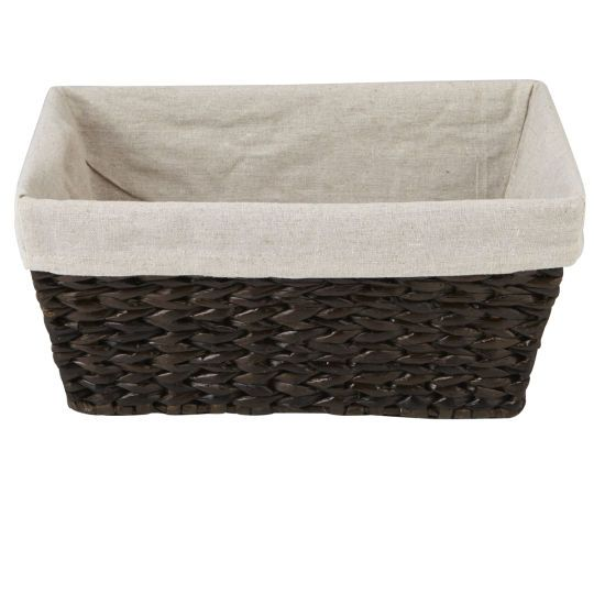 Ashland Dark Water Hyacinth Rectangle Small Storage with Liner Ashland basket are hand woven.  sc 1 st  Pinterest & Ashland Dark Water Hyacinth Rectangle Small Storage with Liner ...