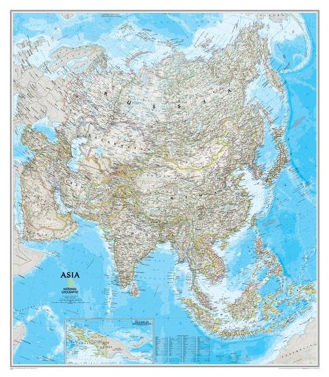 national geographic asia classic map laminated poster on laminated wall maps id=33226