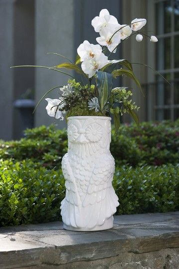 Tall White Owl Vase I Have One Just Like This Use It For My