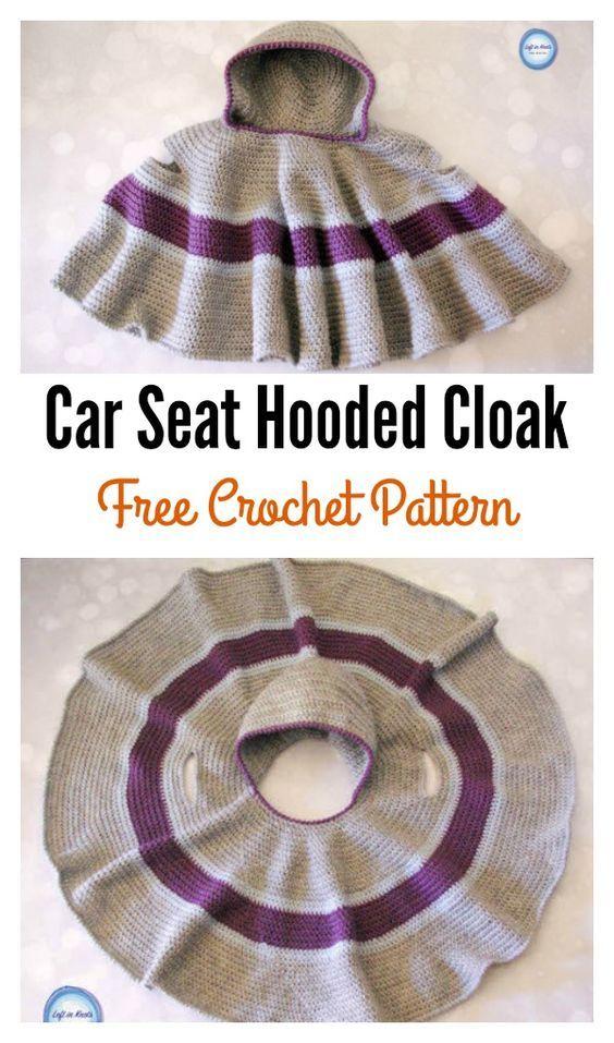 Car Seat Hooded Cloak Free Crochet Pattern Hooded Cloak Cloaks