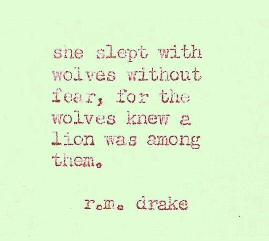 She slept with wolves without fear...