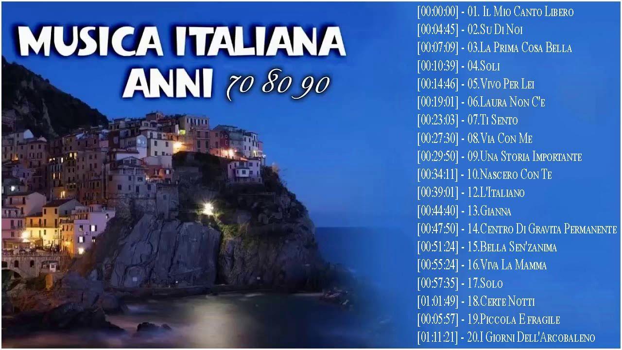 Italian Music 60' 70' 80's Le Più Belle Canzoni Italiane