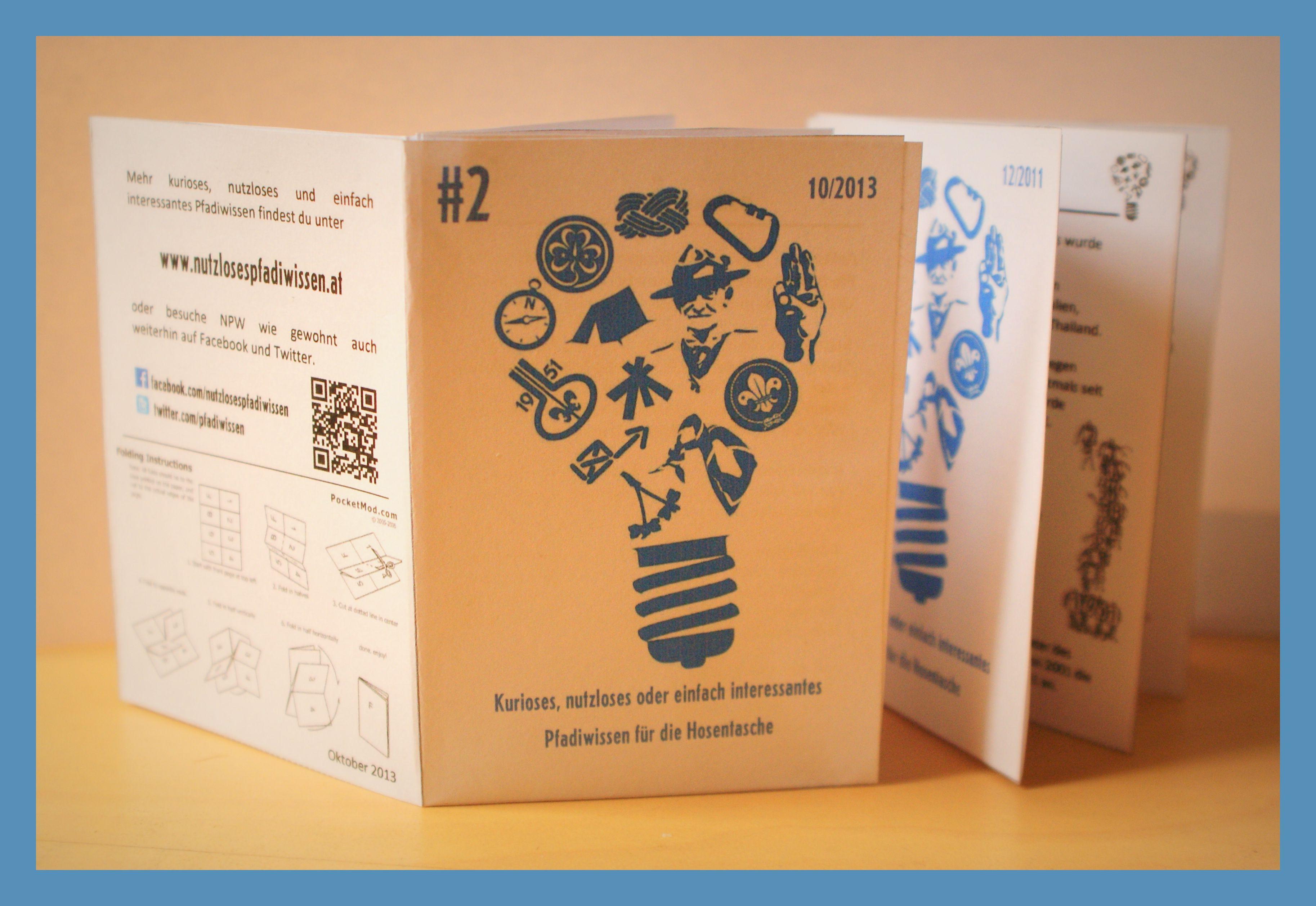 NPW für die Hosentasche  Kleines Heftchen mit zahlreichen nutzlosen Pfadifacts, zum selber Basteln.  Download und Faltanleitung: http://www.nutzlosespfadiwissen.at/2013/09/endlich-da-hosentaschenwissen-2/