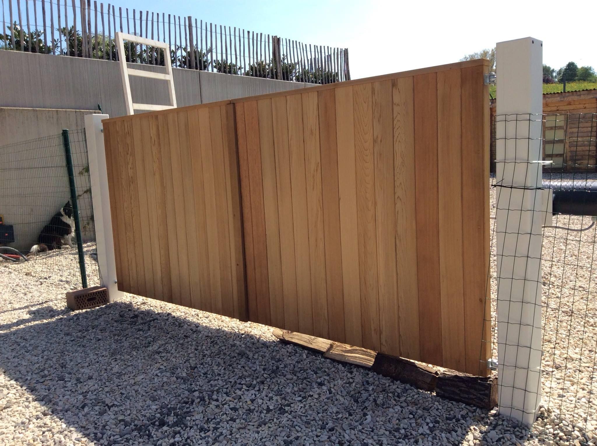 portail bois et cadre acier cach tori portails jardin pinterest portail portail bois. Black Bedroom Furniture Sets. Home Design Ideas