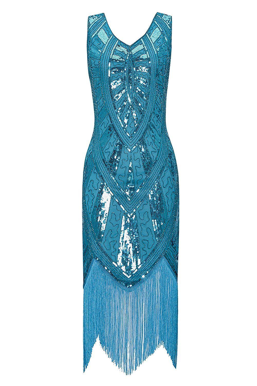 Metme 1920s Vintage Inspired Fringe Embellished Gatsby Flapper ...