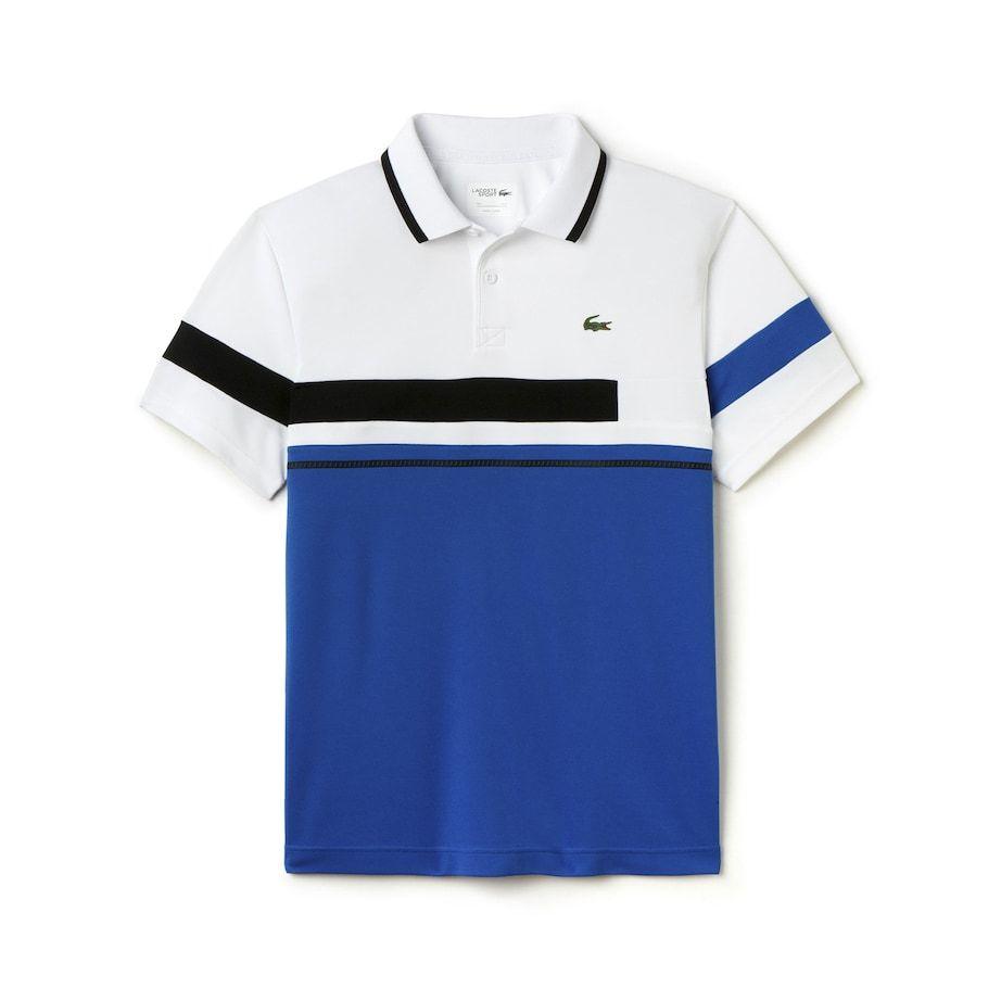 Men S Sport Ultra Dry Color Block Tennis Polo Lacoste Ropa Para Hombres Jovenes Camisetas Estampadas Camisa Tipo Polo
