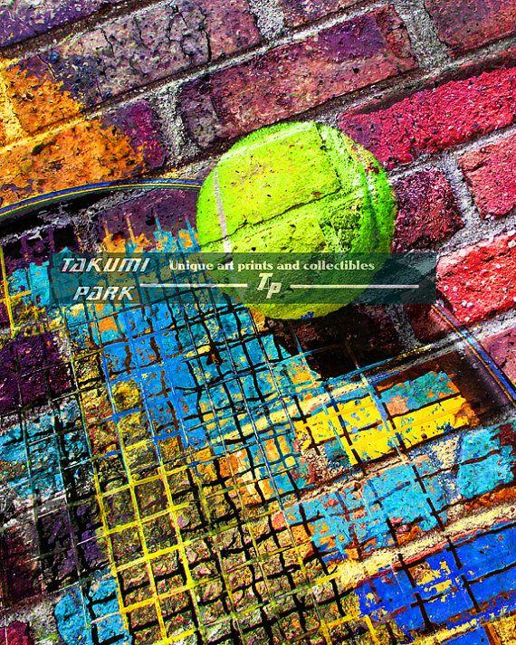 Tennis Wall Decor Colorful Artwork Sports Room Decor Living Etsy In 2020 Colorful Artwork Sports Room Decor Tennis Art