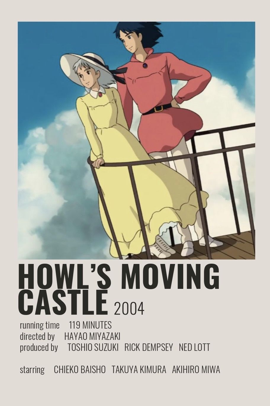 the post movie - Howl's Moving Castle Poster by Cindy - CoDesign Magazine | Daily-updated Magazine celebrating creative talent from around the world