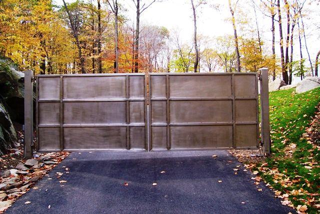 Solid Iron Automated Driveway Gates   Gates   Wrought iron ... Solid Iron Gates