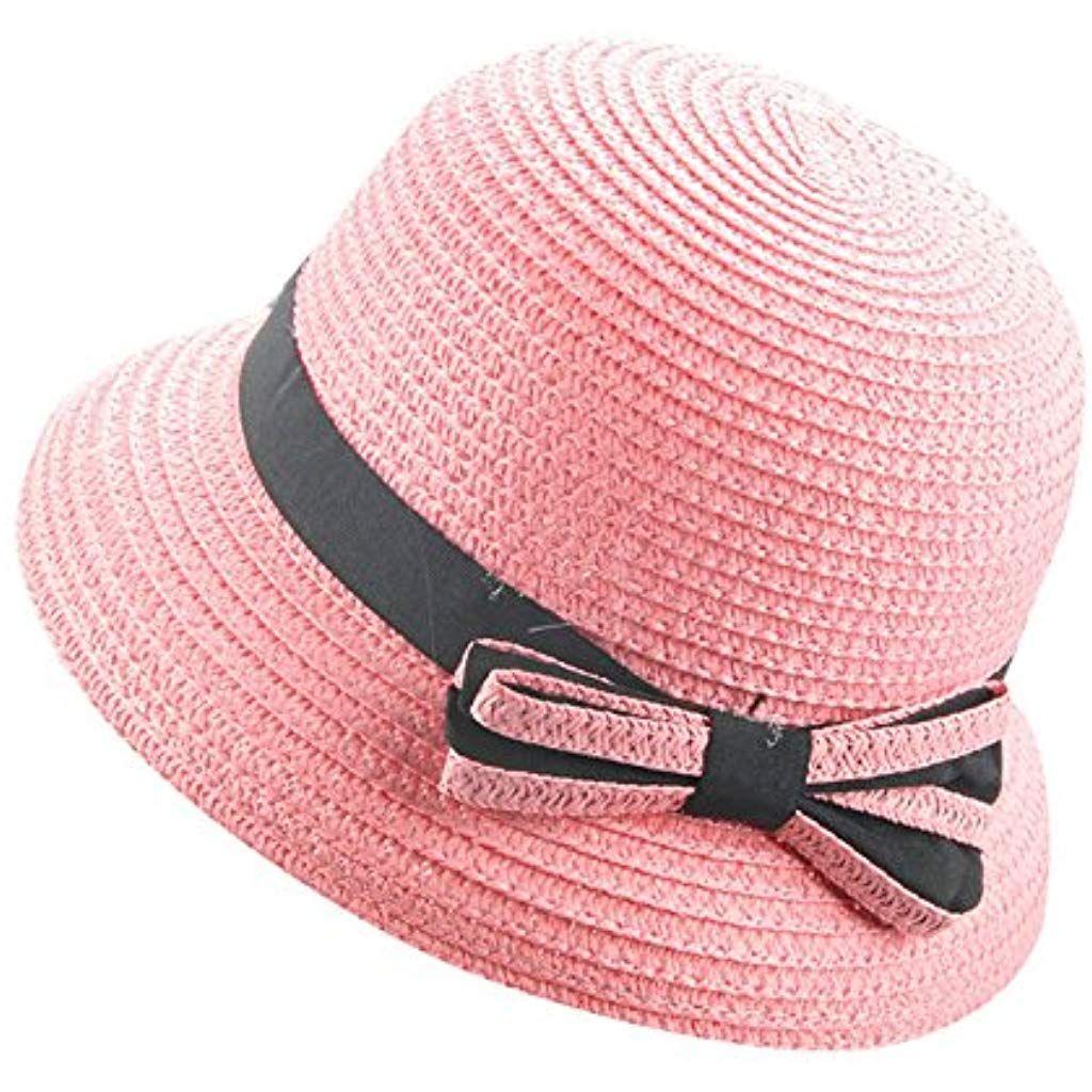 per LEstate con Protezione Solare Magracy Cappello in Paglia per Bambini