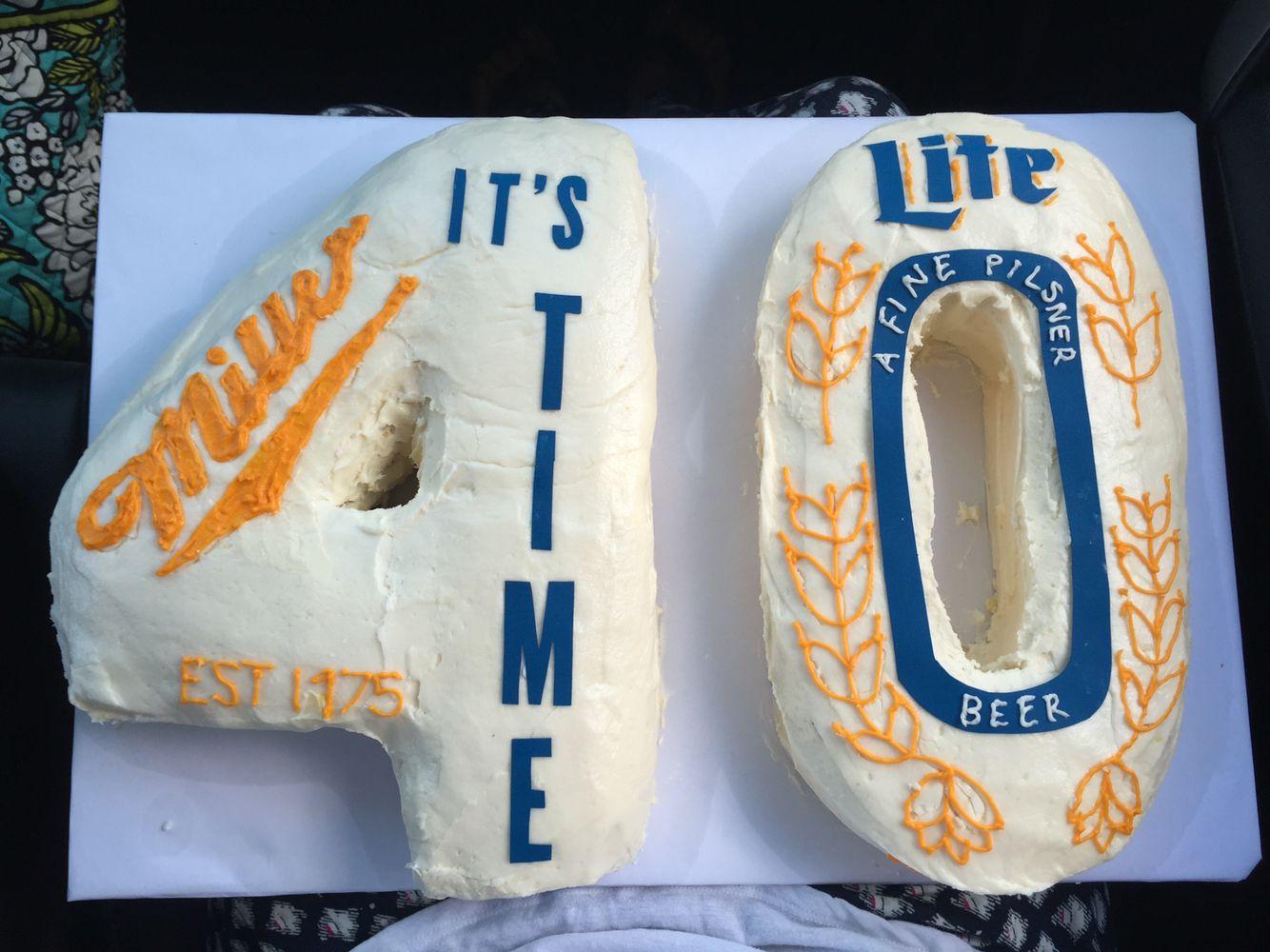 Miller Lite Birthday Cake 40 Cakes And Cupcakes Pinterest