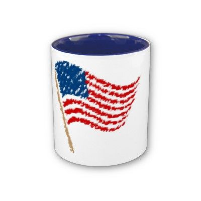 American Flag Waving Mug