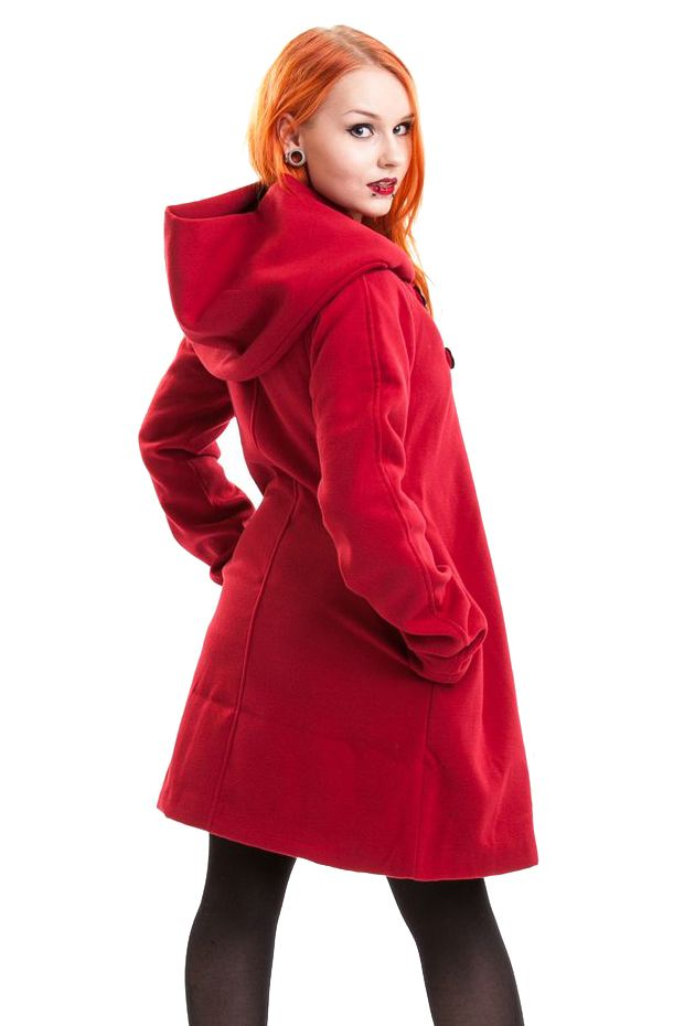 Poizen Industries - Red Riding Coat, Red Gothic Coat - Click to ...