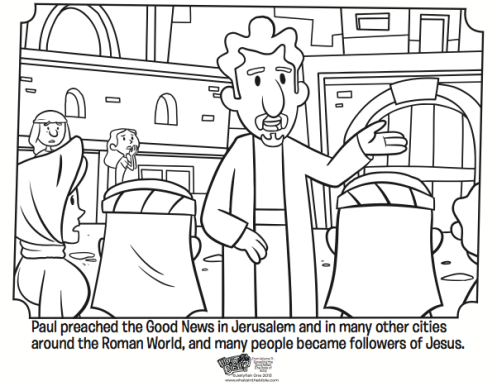 Kids Coloring Page From Whats In The Bible Showing Paul Preaching Volume 11 Spreading Good News