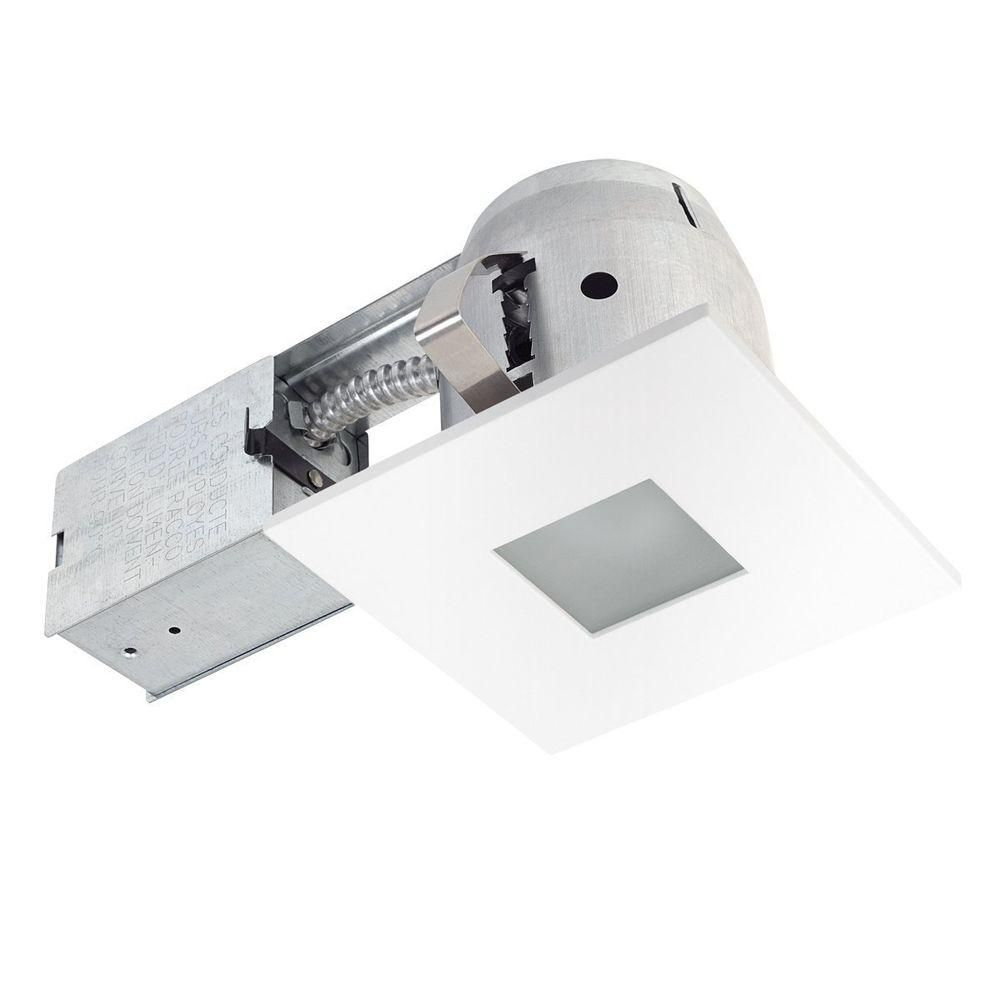 Globe Electric S Ic Rated Square Trim Shower Recessed Lighting Kit Is The Perfect Way To Brighten Bathrooms With Style Housing And Frosted Gl