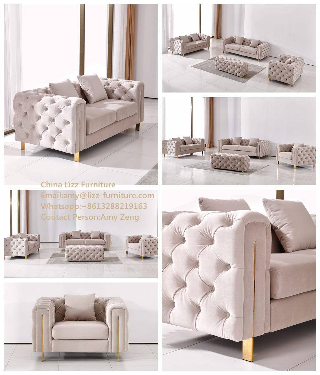 Lizz Furniture New Arrival Fabric Sectional Set Lz828 Sofa
