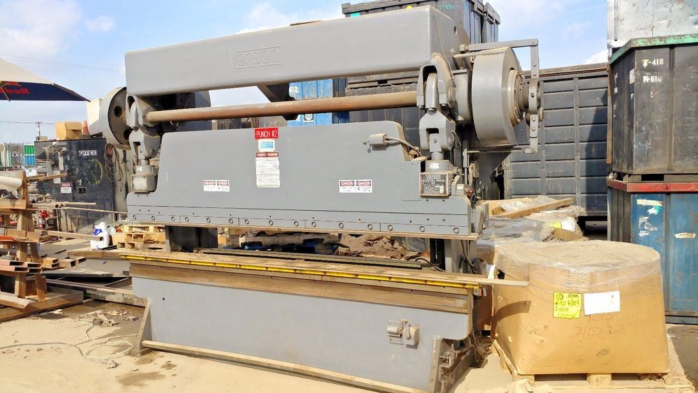 Verson 10 Foot 60 Ton Press Brake With Manual Backgauge And Power Verson Metal Working Press Brake Ebay