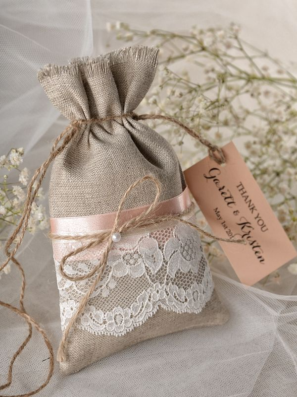 burlap wedding favor bags - 600×800