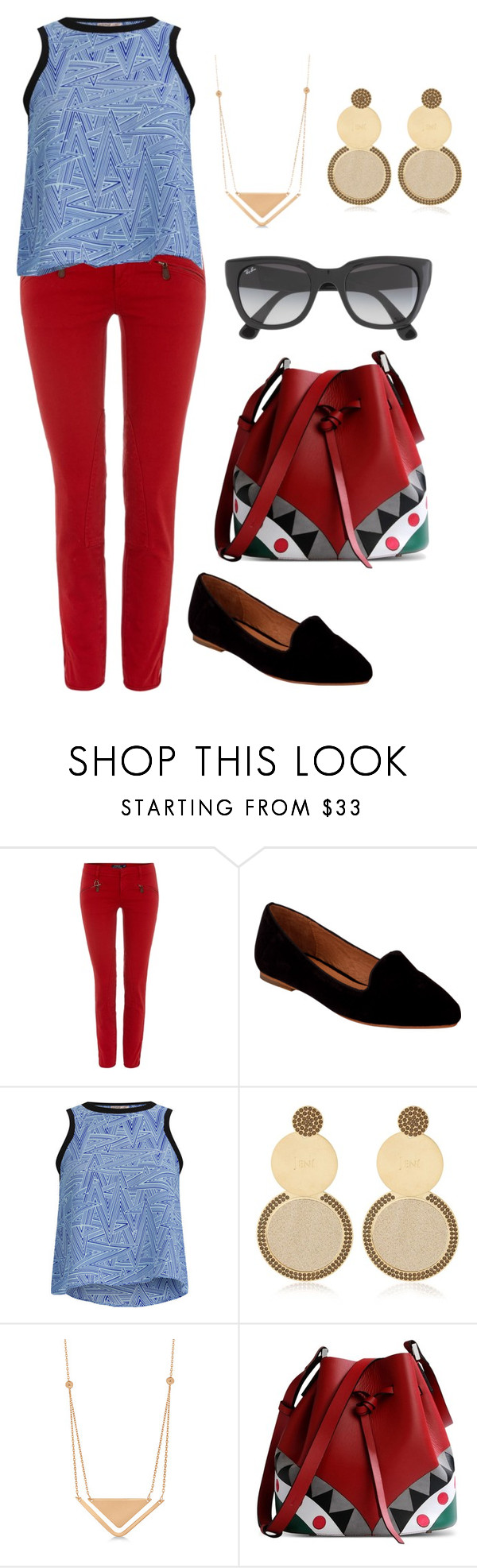 """""""Untitled #48"""" by calyope ❤ liked on Polyvore featuring Polo Ralph Lauren, Joie, Neon Rose, Jení, Allurez, Les Petits Joueurs and Ray-Ban"""