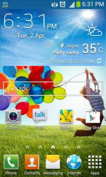 Download Samsung Galaxy S4 Accuweather widget. Samsung