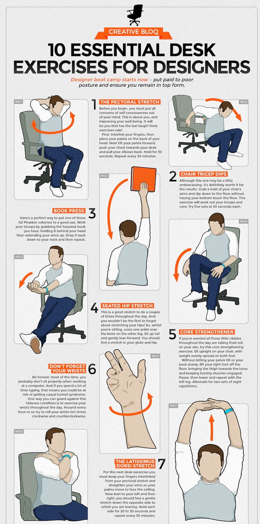 30 Creative Infographics To Keep Your Mind Active And Entertained Desk Workout Exercise Office Exercise