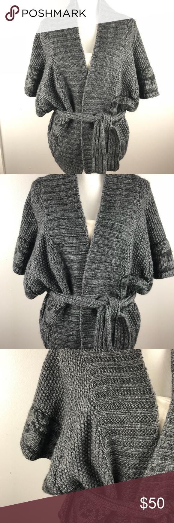 Lineamaglia Open Front Dolman Cardigan Sweater Lineamaglia Made in ...