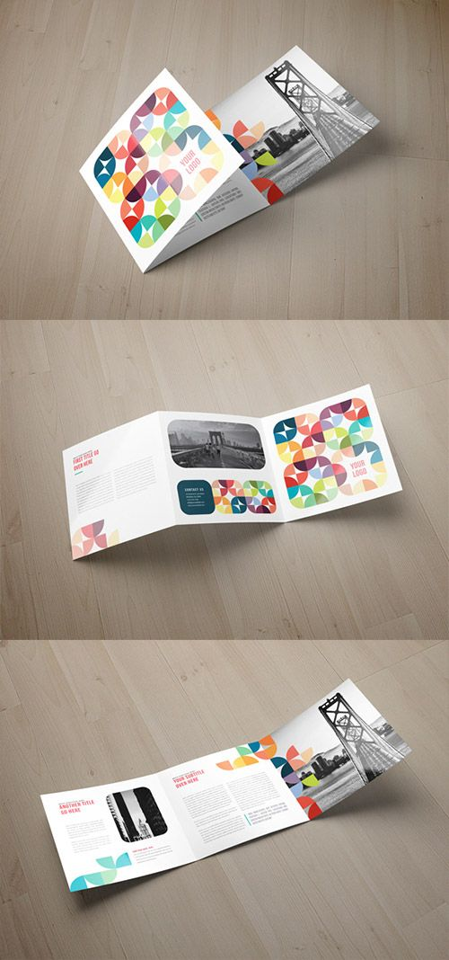 30 creative examples of tri fold brochure designs art design