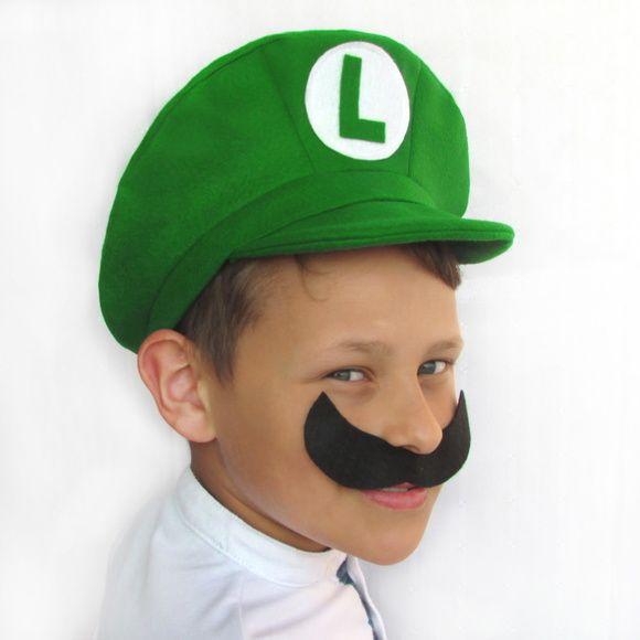 4cab46da013b6 Boina   Chapéu Mario Bros e Luigi