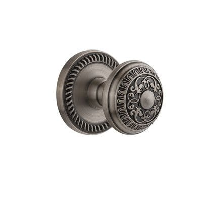 Grandeur Newport Privacy Door Knob Finish: Antique Pewter