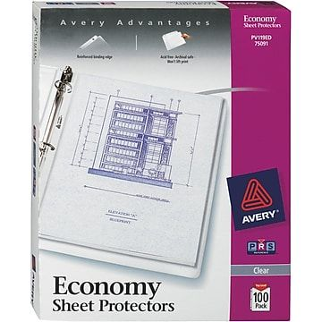 Avery Diamond Clear Economy Weight Sheet Protectors 100 Pack At Staples In 2020 Clear Sheet Protectors Sheet Protectors Plastic Sheet Protector