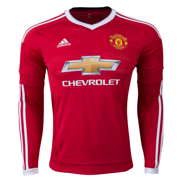 Manchester United 15 16 Ls Home Soccer Jersey Worldsoccershop Com Worldsoccershop Com Long Sleeve Jersey Shirt Manchester United Soccer Jersey
