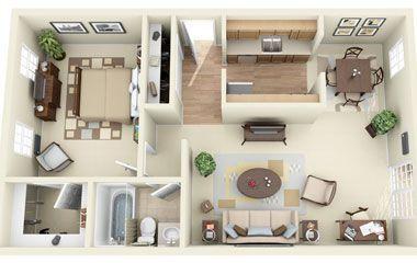 700 sq ft apartment - Google Search | Planos de casas ...