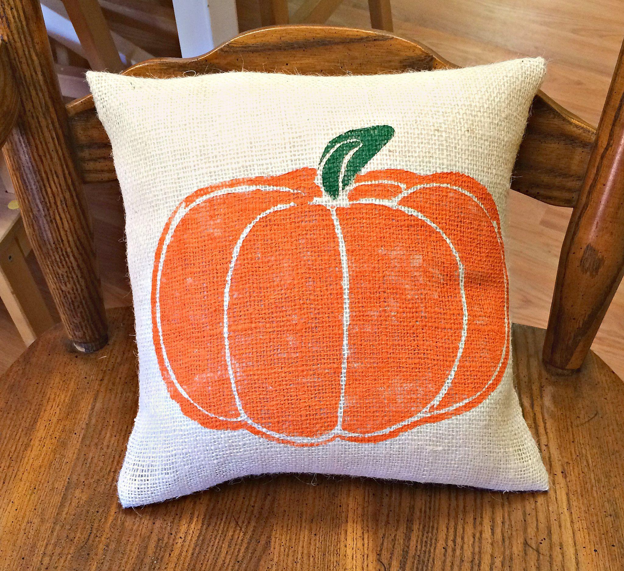 Halloween Pillow, Pumpkin Pillow, Burlap Pillow, Halloween Decoration, Fall  Decor, Outdoor