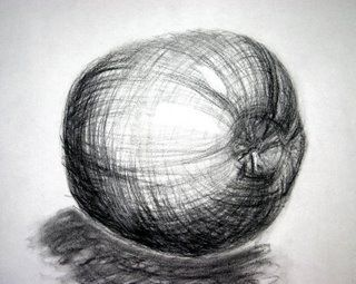 Contour Line Drawing In Art : Fruit for contour line drawing art and sketching
