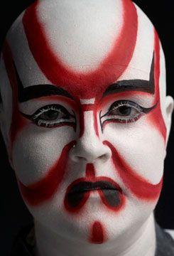 Fantastic Kabuki Makeup Makeup Beauty Body Painting Painting - Kabuki-makeup