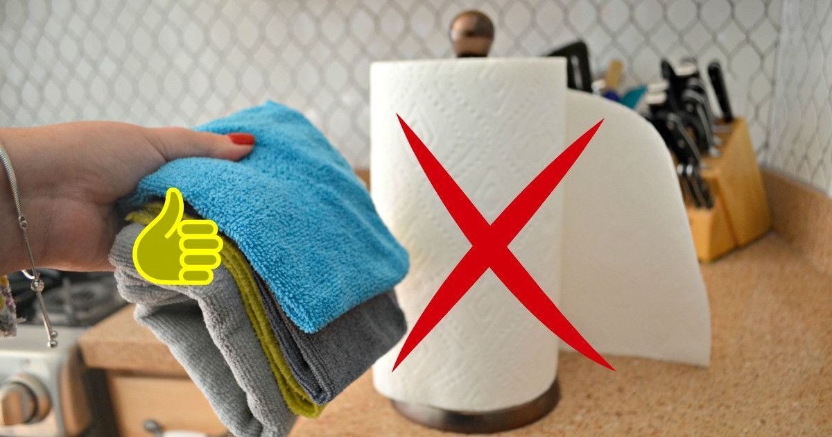 Thumbs Up For Microfiber Cloths An X Symbol Over Paper Towels Clean Microfiber Microfiber Cloth Microfiber