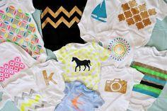 Baby Bodies selbst bemalen mit verschiedenen Motiven