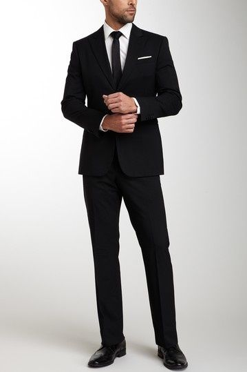 Men\'s Tailored Black Suit. | Men\'s Corner | Pinterest | Black suits ...