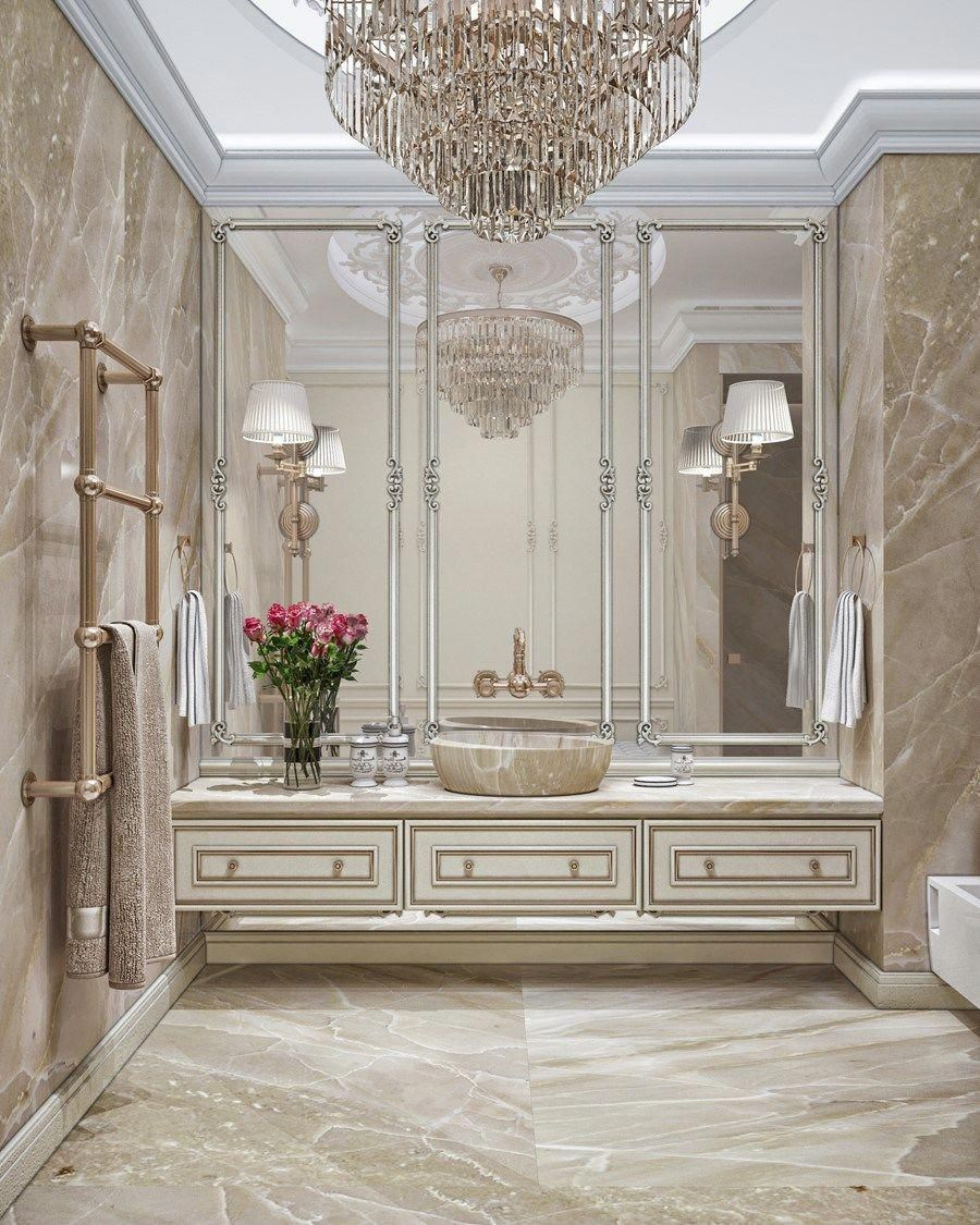 Bathroom Home Interior Design Luxury Design In The Neoclassical Style By Building Evolution 10
