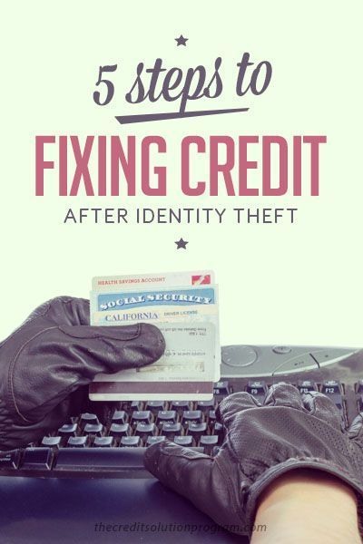 No one wants to have their identity stolen, but identity theft is happening more and more. Here are 5 steps to fix your credit after identity theft. Number 4 is essential!