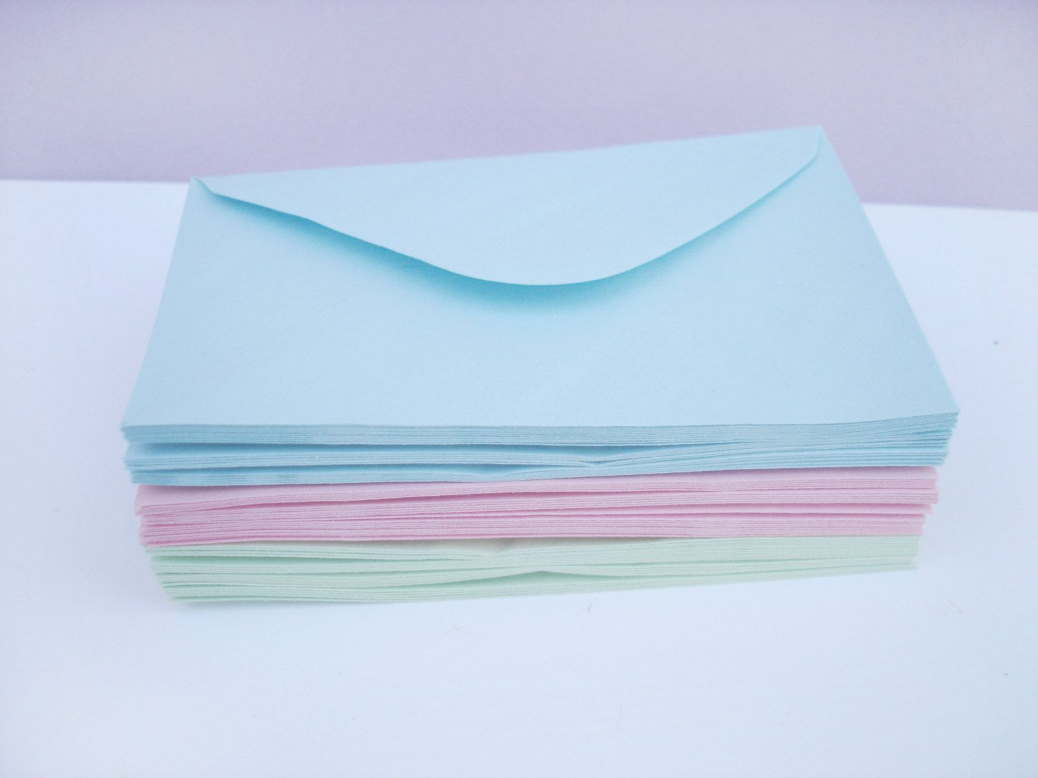 baby blue tiny envelopes small size 76x120 mm paper envelopes