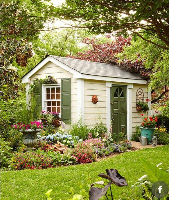 gezellig tuinhuisje gardens pinterest casa jardin On cobertizo de madera de jardin contemporaneo