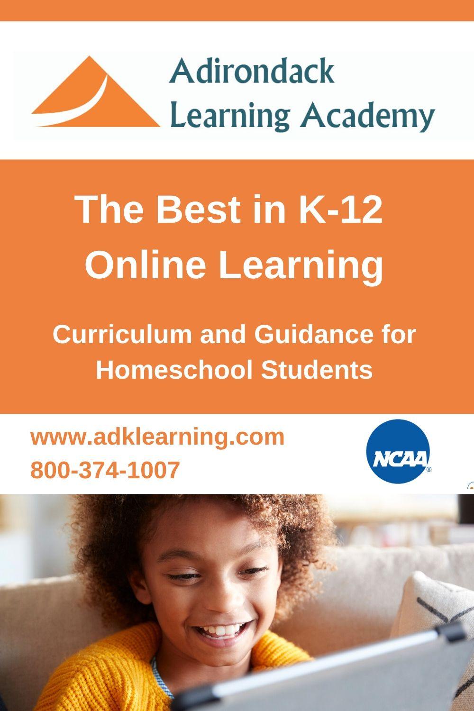 Adirondack Learning Academy Online Homeschool Online Learning Homeschool Students