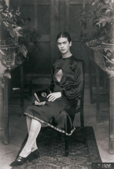 Frida Kahlo eighteen years young  by Guillermo Kahlo, Mexico, 1926