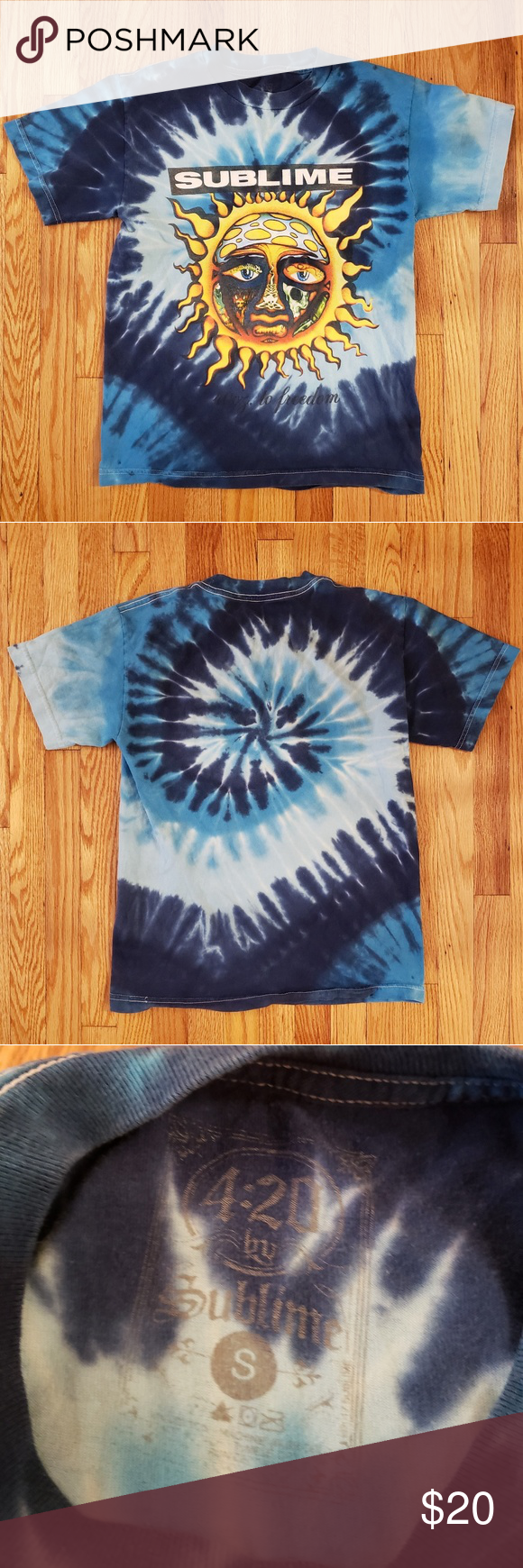 09555de5f Sublime Sun Tie Dye Tee 40 oz. To freedom tee Size: S Color: Blue Tie dye  Condition: Excellant Sublime Shirts Tees - Short Sleeve