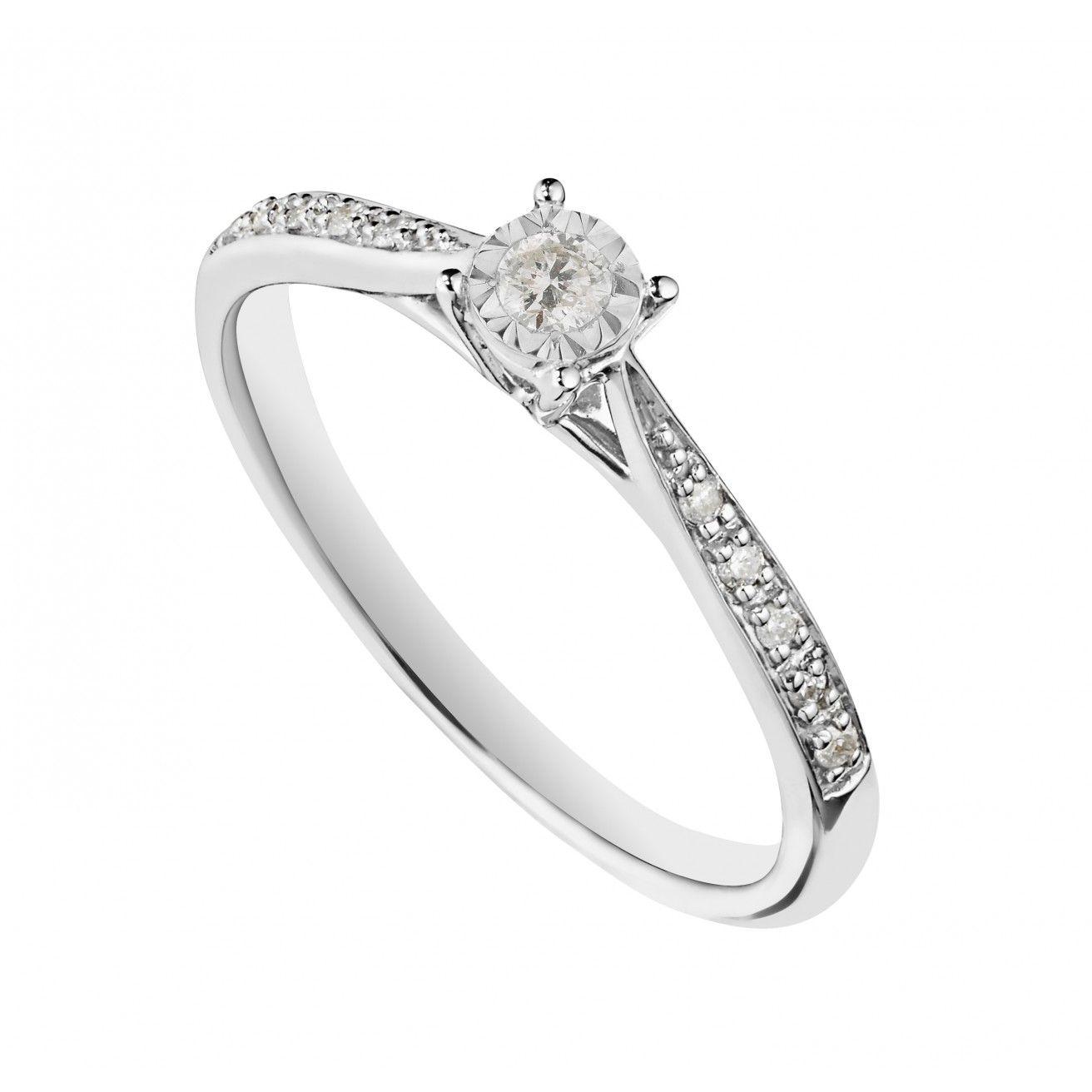 29df4cd6426d1 Shop the finest 585 White Gold - Engagement Rings online Huge ...