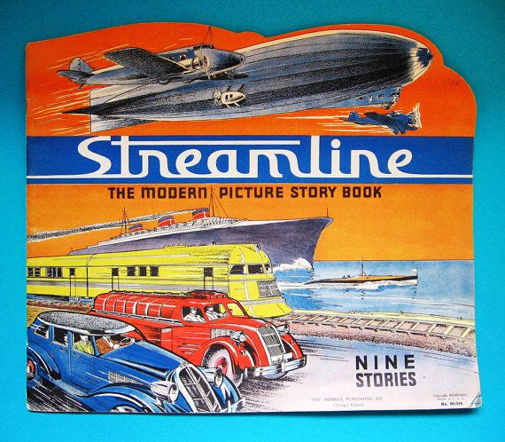 Streamline Modern Picture Book 1935 Rare #etsy #uncommonshop