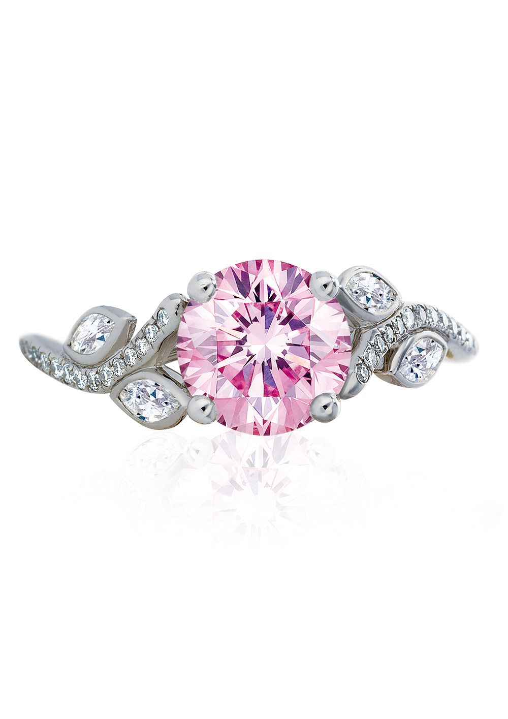 Gorgeous new engagement rings for valentineus day pink diamond