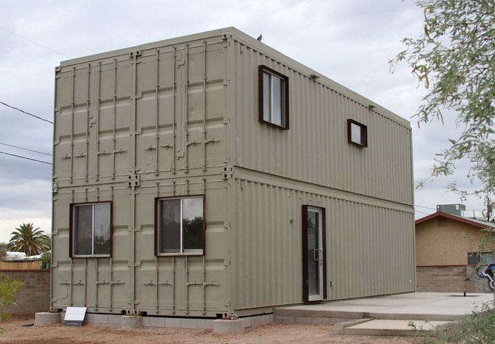 house metal shipping container